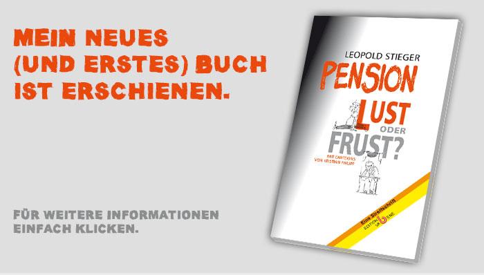 Mein Buch: Pension - oder Frust?