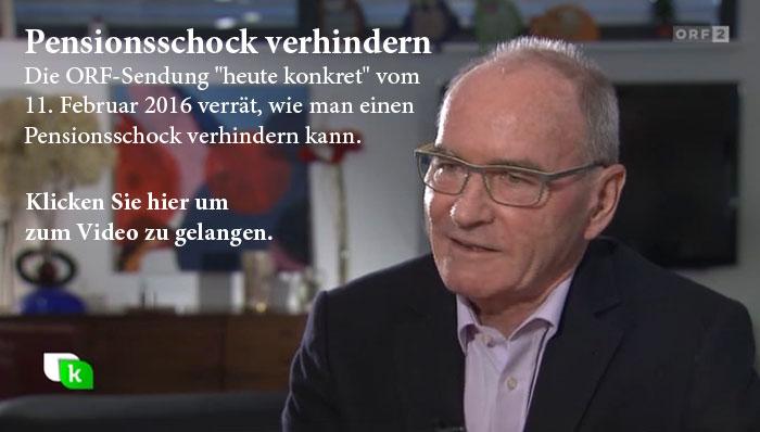 Pensionsschock verhindern - ORF-Sendung heute konkret